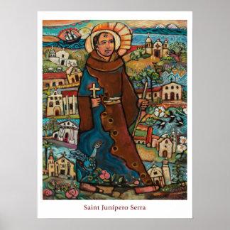 Poster da sala de aula de Junipero Serra do santo