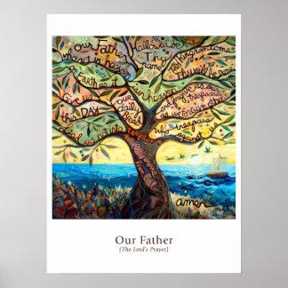 "Poster da sala de aula que caracteriza ""nosso pai"