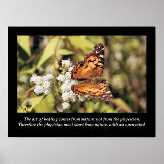 Poster da saúde das citações e dos provérbios da
