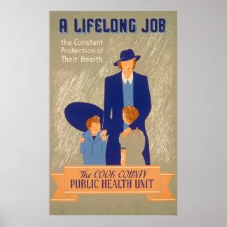 Poster da saúde pública do vintage