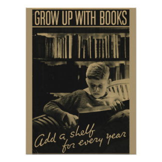 Poster da semana de livro de 1933 crianças