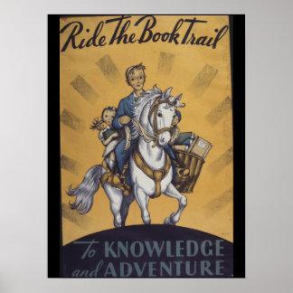 Poster da semana de livro de 1934 crianças