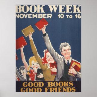 Poster da semana de livro de 1940 crianças