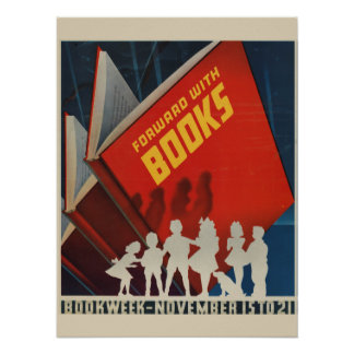 Poster da semana de livro de 1942 crianças