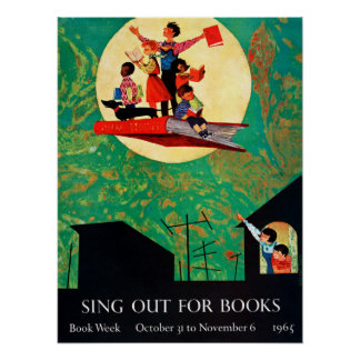 Poster da semana de livro de 1965 crianças