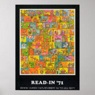 Poster da semana de livro de 1971 crianças
