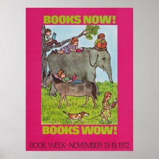 Poster da semana de livro de 1972 crianças