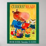 Poster da semana de livro de 1975 crianças