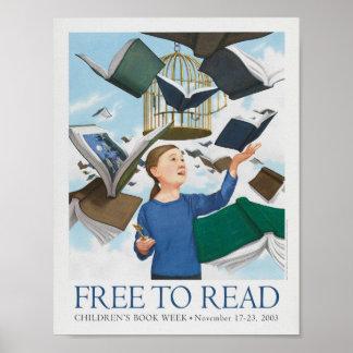 Poster da semana de livro de 2003 crianças