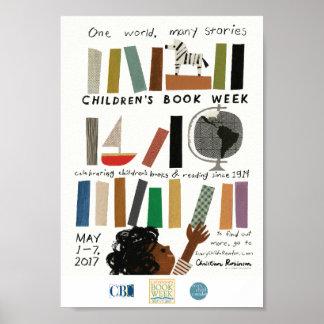 Poster da semana de livro de 2017 crianças