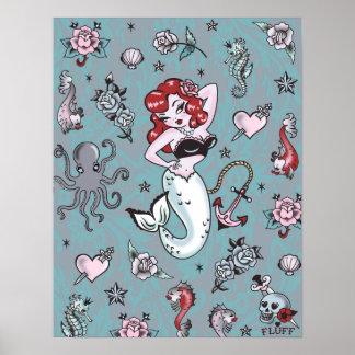 Poster da sereia de Molly do fluff