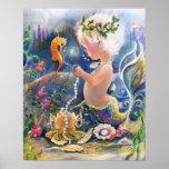 Poster da sereia do bebê