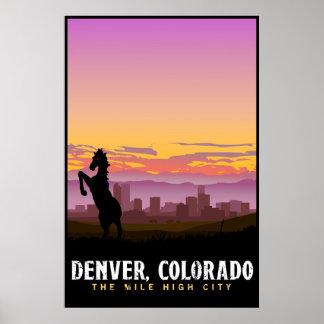 Poster da skyline de Denver