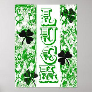 Poster da sorte do dia de St Patrick
