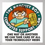 Poster da tecnologia do computador do menino imper