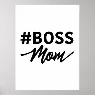 Poster da tipografia da MAMÃ do #BOSS de Hashtag
