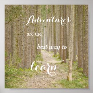 Poster da tipografia das citações da aventura pôster