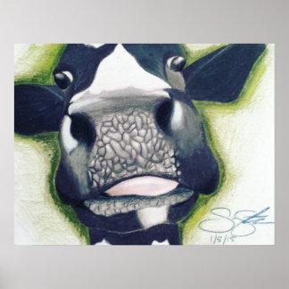 Poster da vaca do MOO do divertimento