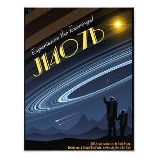 Poster da viagem espacial de J1407b Impressão De Foto