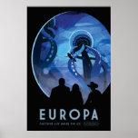 Poster da viagem espacial do Europa