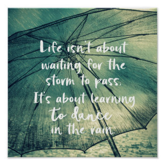 Poster Dança da vida nas citações da chuva