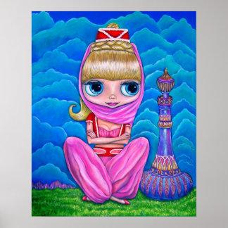 Poster Dançarino de barriga grande da boneca dos génios
