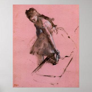 Poster Dançarino que desliza em seus calçados por Edgar