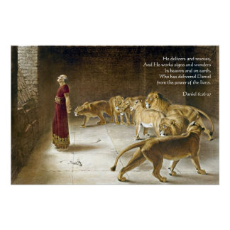 Pôster Daniel na escritura da arte da bíblia do antro do