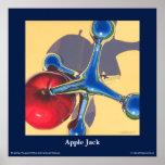 "Poster das belas artes de Apple Jack, 24"" x 24"" Pôster"