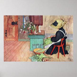 Poster das belas artes do ruibarbo da casca de pôster