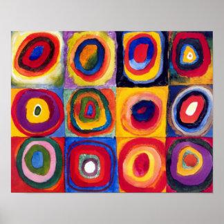 Poster das belas artes dos círculos concêntricos d pôster