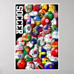 Poster das bolas de futebol do mundo