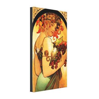 Poster das canvas da fruta de Alphonse Mucha