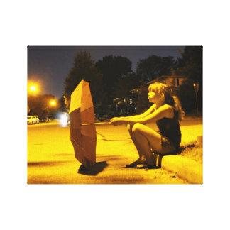 Poster das canvas da noite da menina do