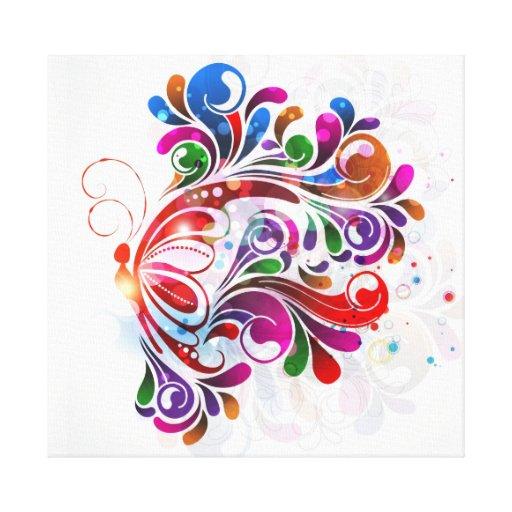 Poster das canvas das borboletas do amor impressão de canvas envolvidas