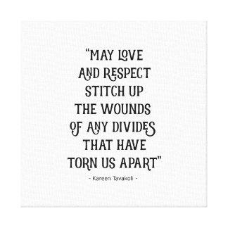 Poster das canvas do amor e do respeito