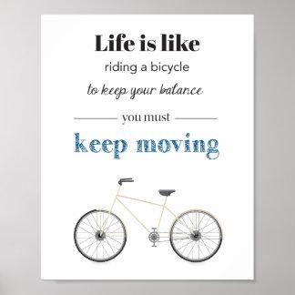 Poster das citações da bicicleta pôster