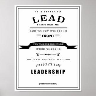 Poster das citações da liderança pôster