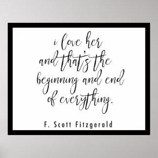 Poster das citações de F. Scott Fitzgerald