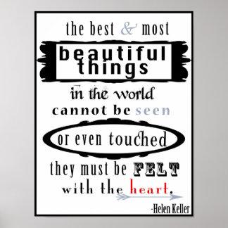 Poster das citações de Helen Keller Pôster