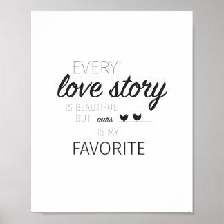 Poster das citações do amor pôster