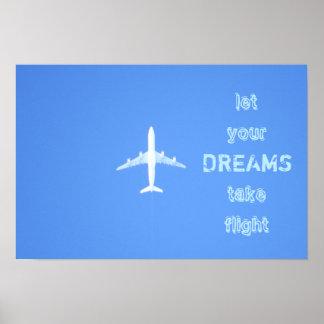 Poster das citações dos sonhos do viagem