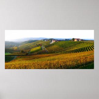 Poster das colinas de Langhe do italiano Pôster