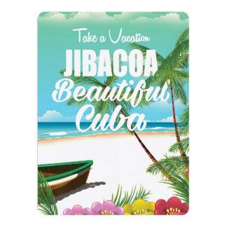 Poster das férias da praia de Jibacoa Cuba Convite 16.51 X 22.22cm