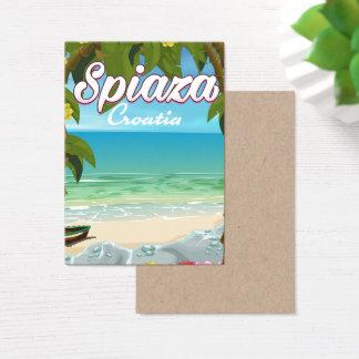 Poster das férias da praia de Spiaza Croatia Cartão De Visitas