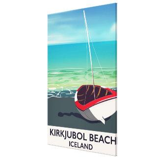Poster das férias de Islândia da praia de