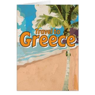 Poster das férias do vintage da piscina cartão comemorativo