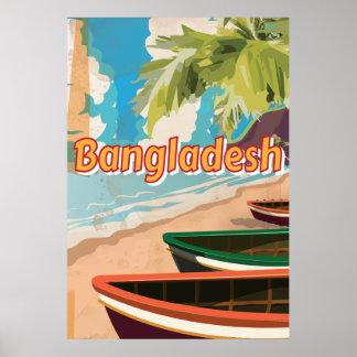Poster das férias do vintage de Bangladesh Pôster