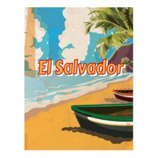 Poster das férias do vintage de El Salvador Cartoes Postais