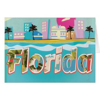 Poster das férias do vintage de Florida Cartão Comemorativo